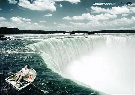 Bose Noise Reduction amusing and humrous print ad