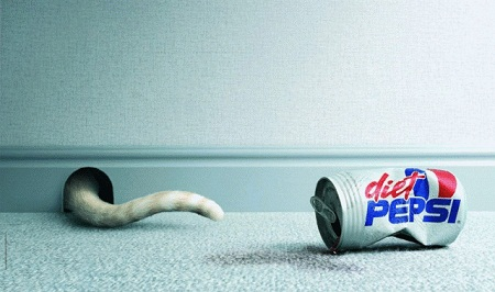 Diet Pepsi amusing and humorous print ads