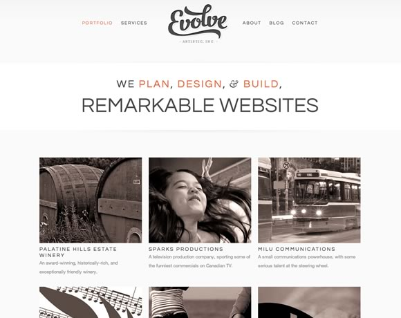 Evolve big image website