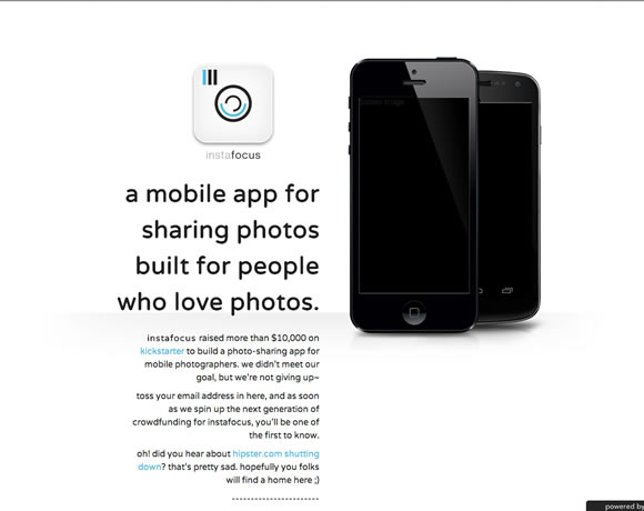 instafocus iphone app website