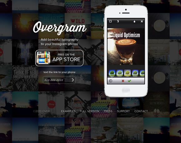 Overgram iphone app website