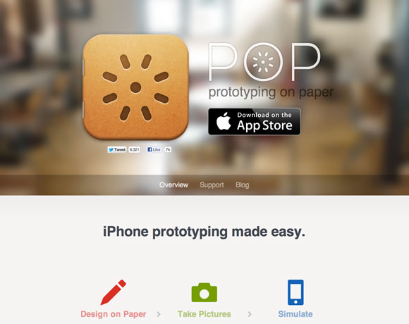 Pop iphone app website