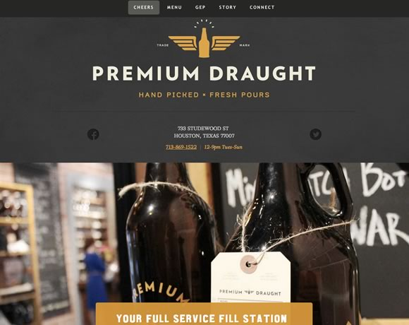 Prmium Draught big image website