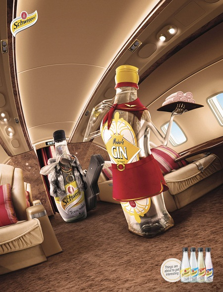 Schweppes amusing and humorous print ads