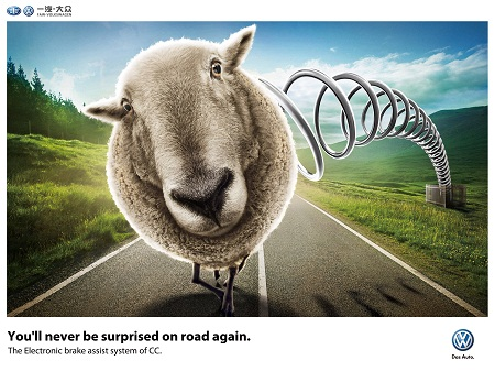 Volkswagen amusing and humorous print ads