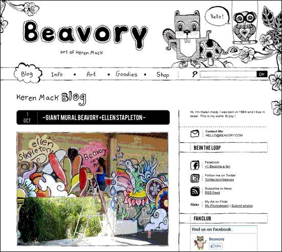 Beavory - Website design using drawings and illustration