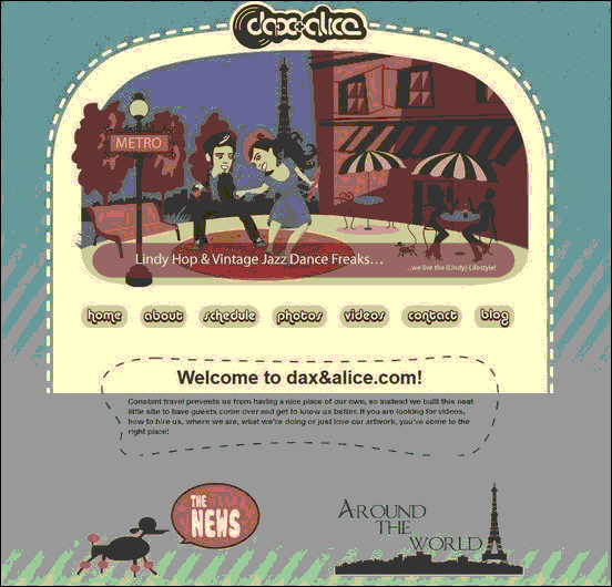 Dax and Alice - Website design using drawings and illustration