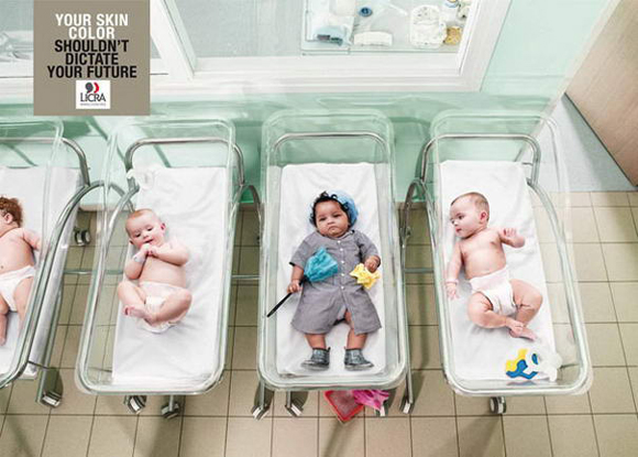 International League Against Racism and Anti-Semitism controversial print ad