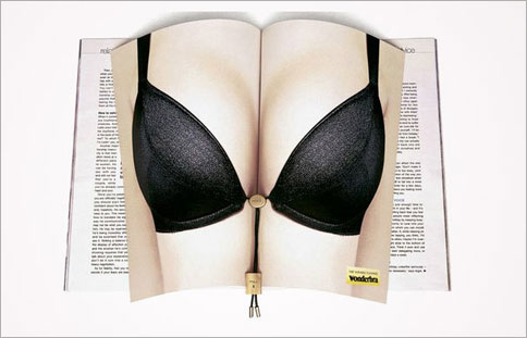 Innovative magazine print ads