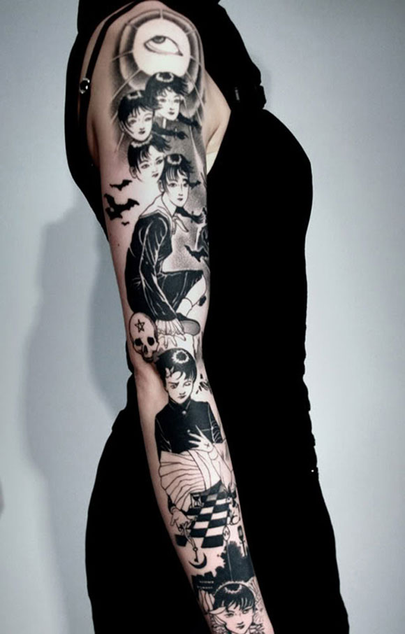 45 beautiful tattoo designs for girls desiznworld for Tattoo sleeve ideas girl