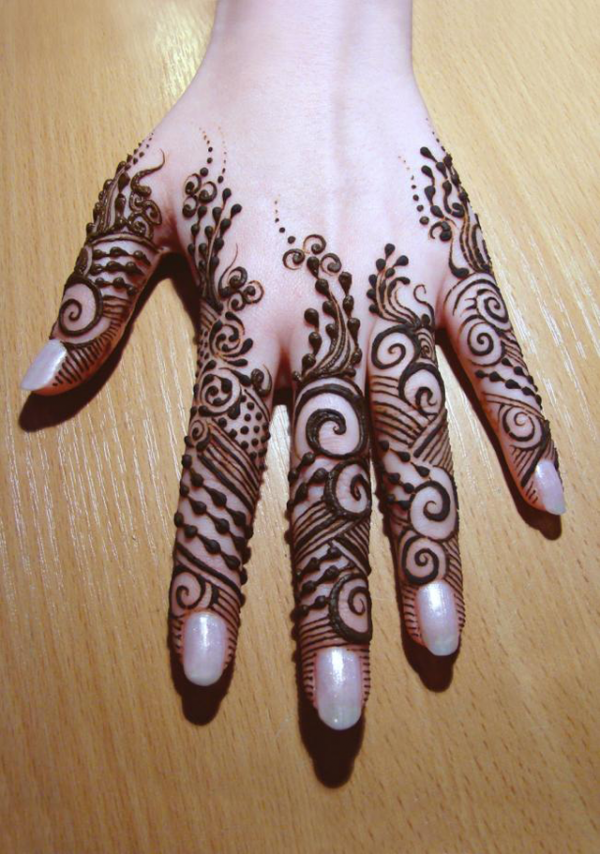 75+ Beautiful Mehndi Designs (Henna Hand Art)