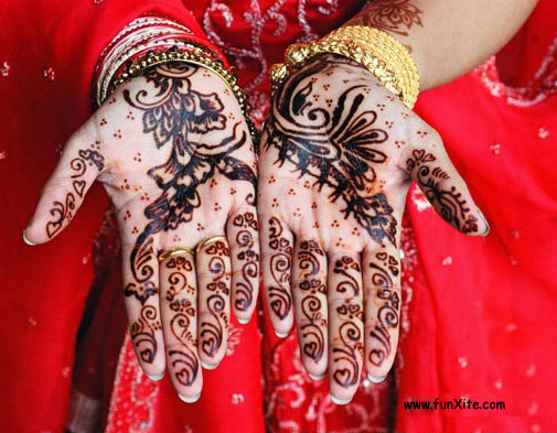 Bridal Henna Hand Tattoo Designs