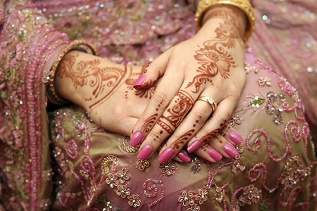 Bridal Henna Tattoo Designs On Hands