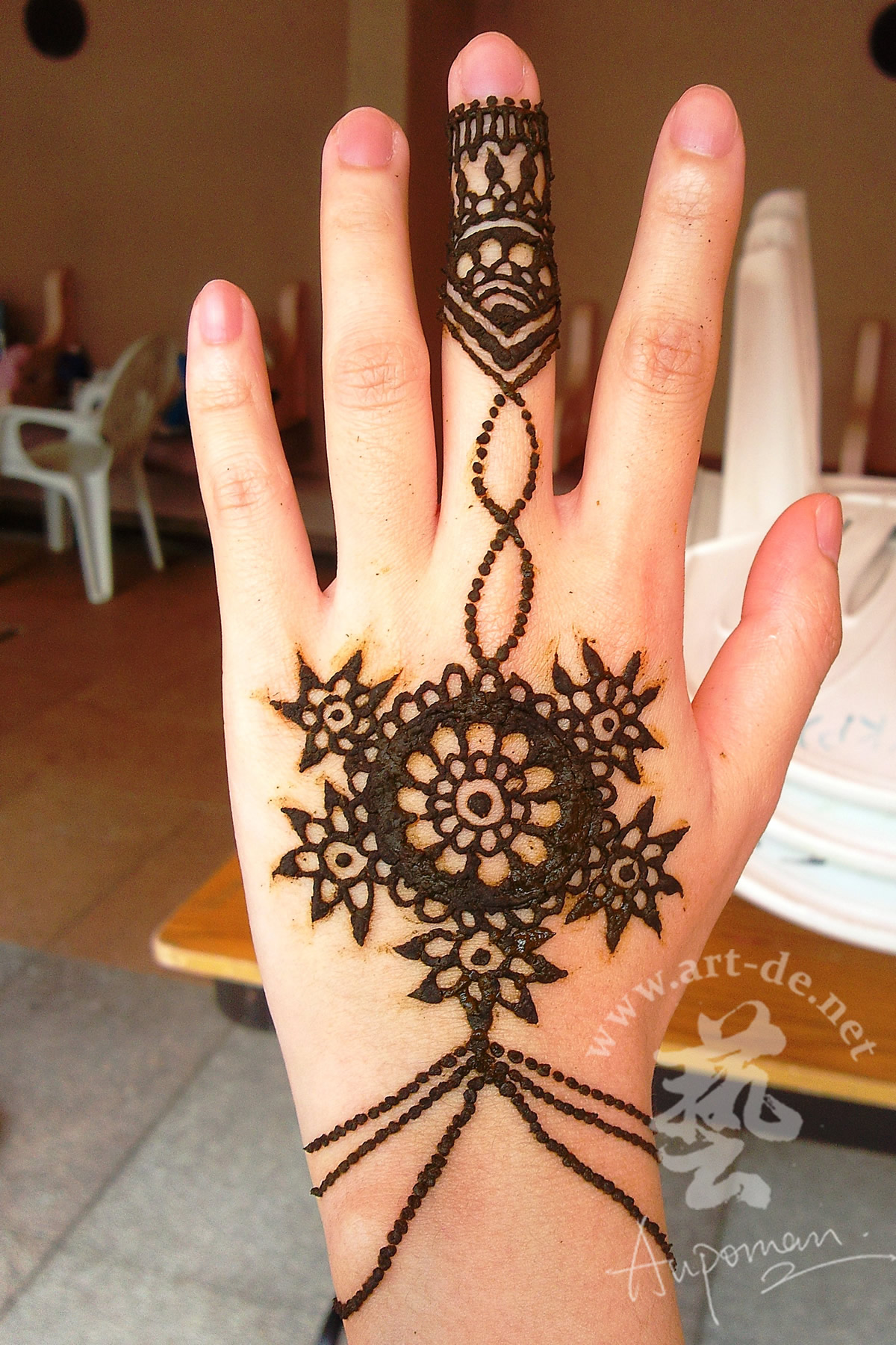 Designer Henna Tattoo On Hand