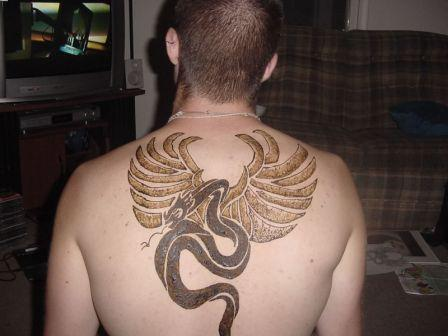 Henna Extreme Tattoo On Upper Back