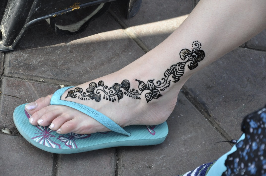 Henna Foot Tattoo Design