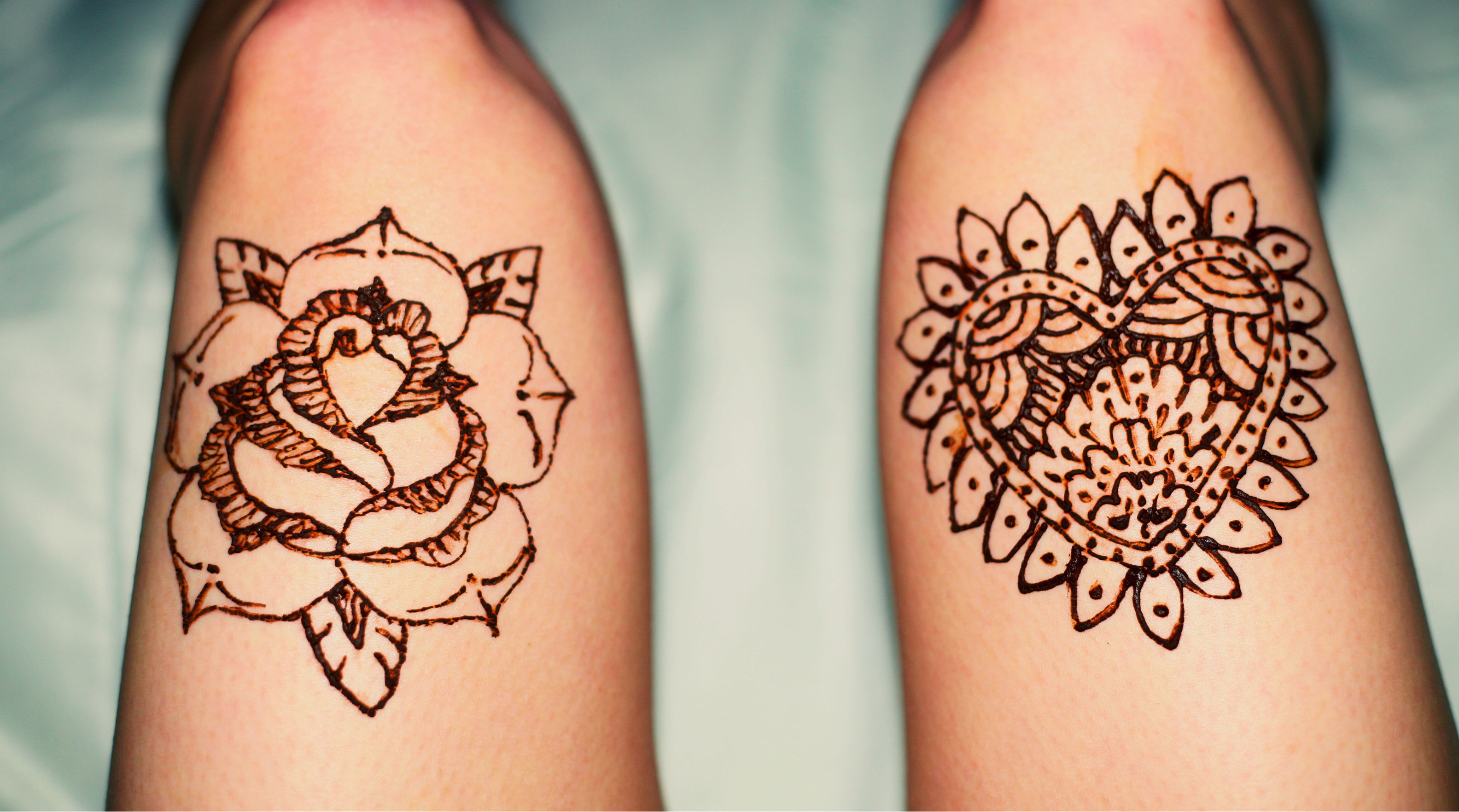 Leg Mehndi Designs Easy Only : Henna leg tattoo designs makedes