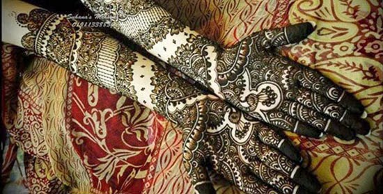 Mehndi Design For Bridal Collection : Full hand bridal mehandi designs