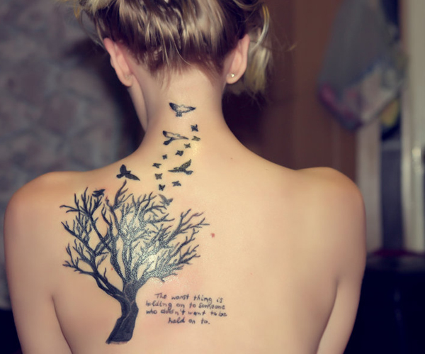 tree tattoo for girl