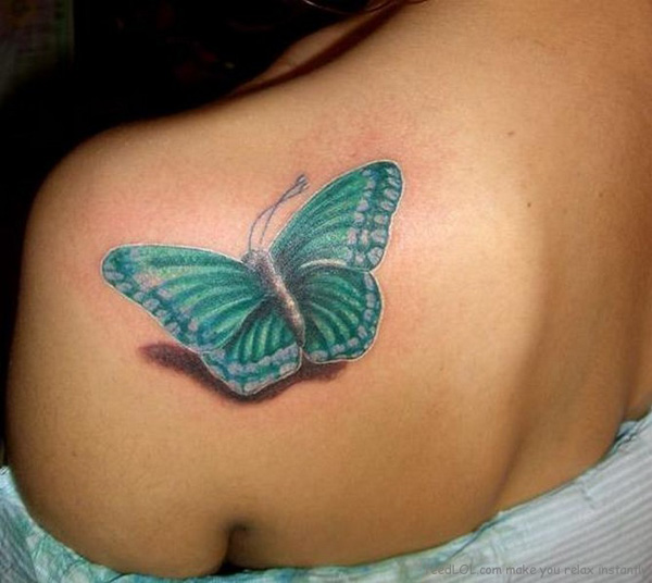 cute 3D butterfly tattoos for girl