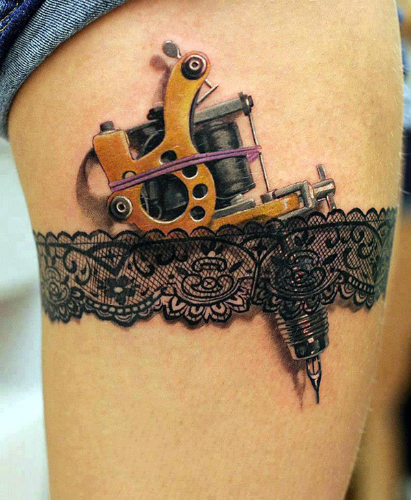 tattoo machine lace tattoo