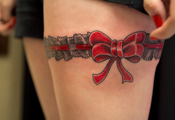 red Ribbon Tattoo