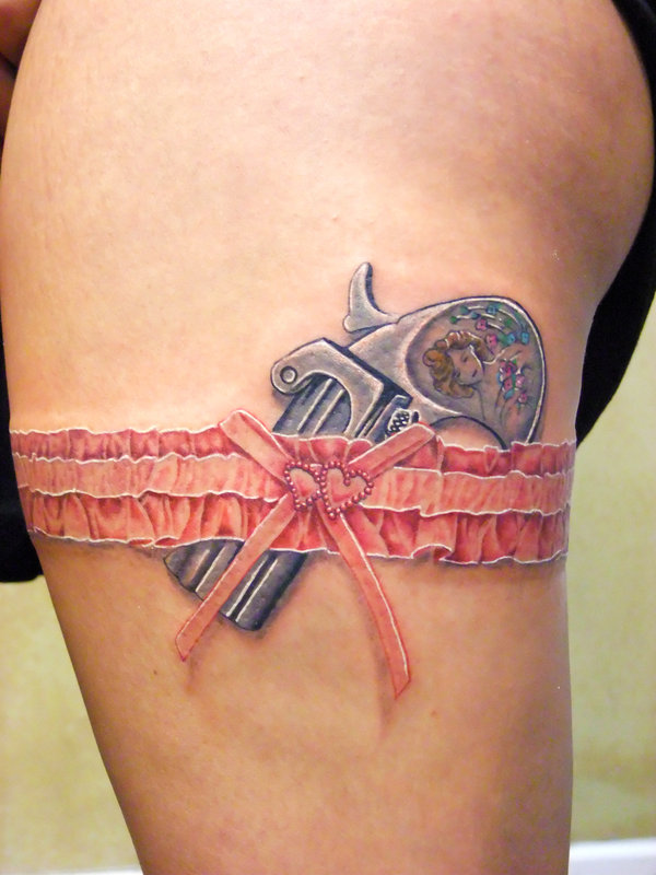 Pistol lace tattoo