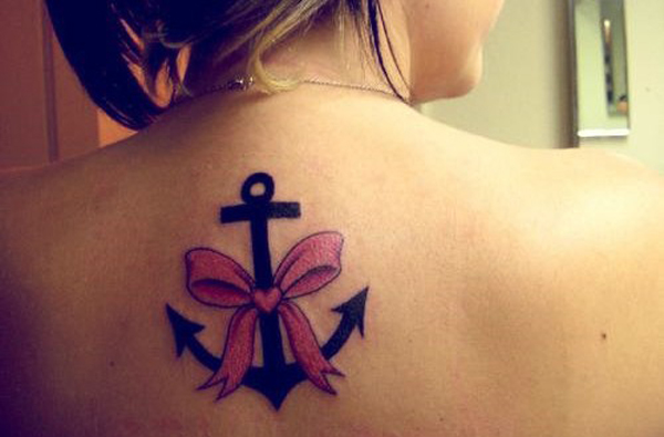 back tattoos anchors ancora bows tattoo for girls