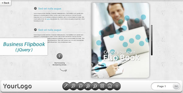 Business FlipBook jQuery