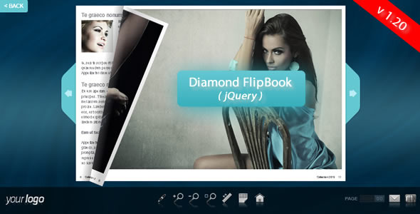 Diamond FlipBook jQuery
