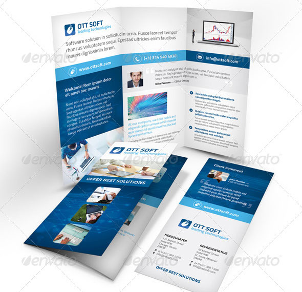 27 Beautiful Trifold Brochure Templates – Desiznworld