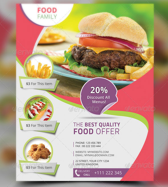 Free Premium Restaurant Flyer Templates PSD Desiznworld - Food brochure templates
