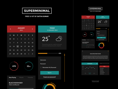 Superminimal V2 Freebie UI Kit
