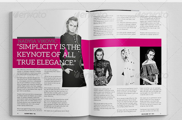 Fashion Magazine Template Free