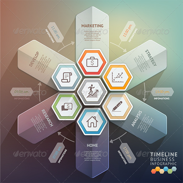 Arrow Timeline Infographics Template