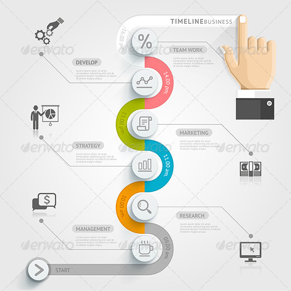 Business Timeline Infographics 01
