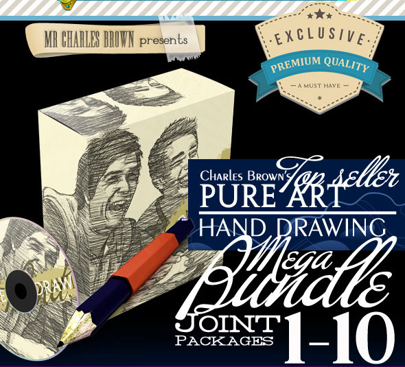 Charles-Brown-Pure-Art-Hand-Drawing-Bundle