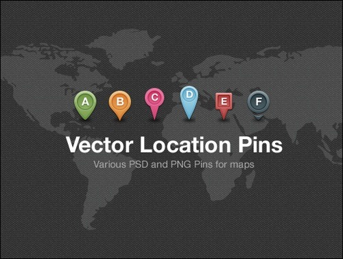 Free Vector Map Location Pins