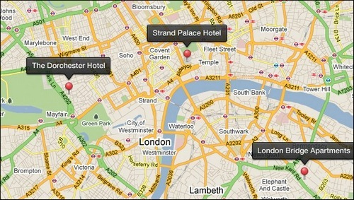Map Pins Tooltips (PSD)