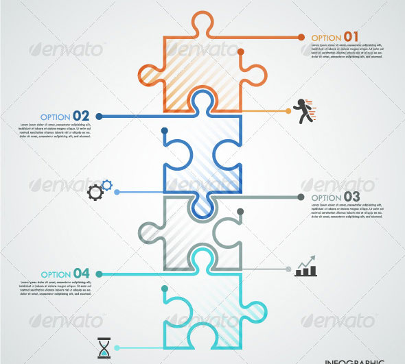 Minimal-Infographic-Template-With-Puzzle