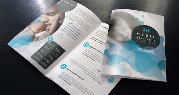 20 free premium medical brochure templates desiznworld for Free bi fold brochure template 2