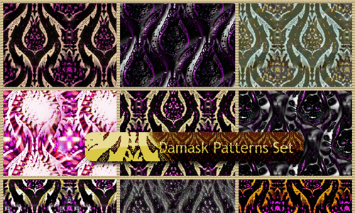 Damask Patterns Set