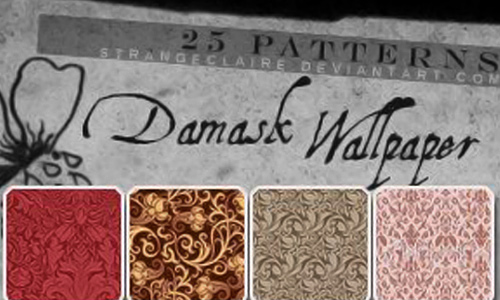 Patterns Damask Wallpaper