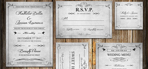 Classic-Vintage-Wedding-Invitation-Package