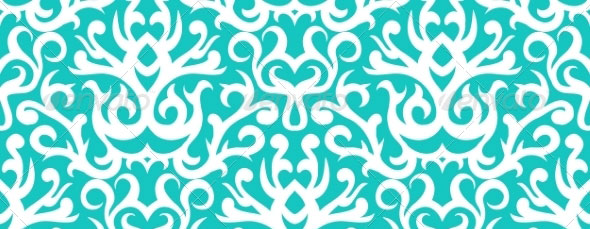 Damask-Pattern-in-White-on-Turquoise