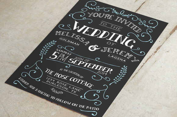 Flourish Wedding Invitation Suite