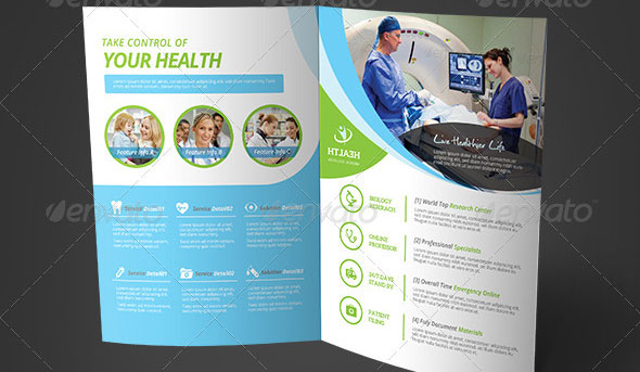 20 free premium medical brochure templates desiznworld for Health pamphlet template