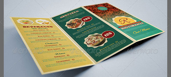 Restaurant-Menu-Tri-fold-Brochure