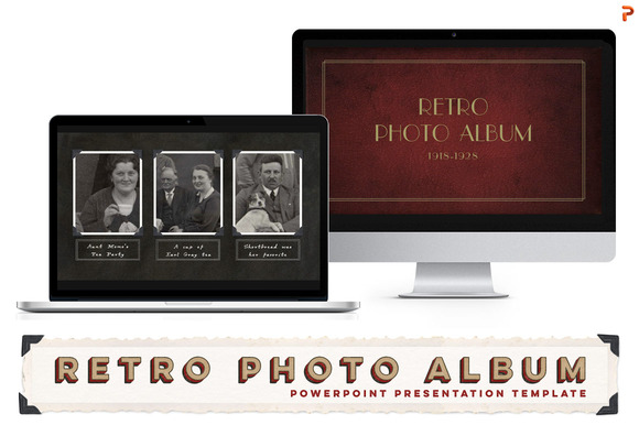 Retro Photo Album PPT Template