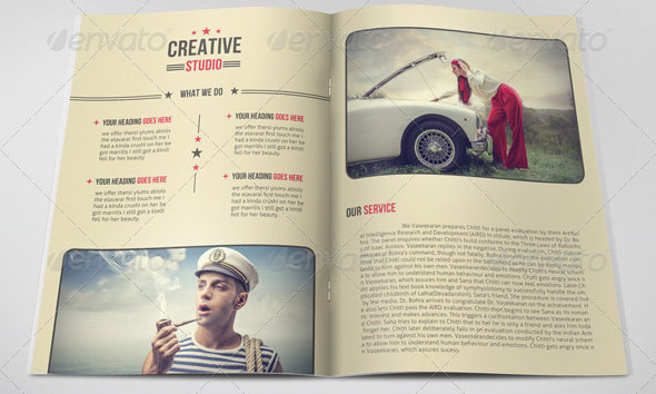 Beautiful Vintage Brochure Templates  Desiznworld